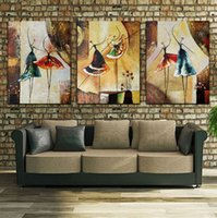 Wholesale ballet dancer paintings resale online - Unframed Panel Handpainted Ballet Dancer Abstract Modern Wall Art Picture Home Decor Oil Painting On Canvas For Bedroom