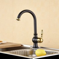 Wholesale 2016 New Arrival High Quality Heavy Solid Brass Single Handle Gold Kitchen Faucet Pull Out Gooseneck Sink Mixer Tap XKX