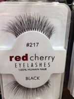 Wholesale Machine Made - 15 styles RED CHERRY False Eyelashes Natural Long Eye Lashes Extension Makeup Professional Faux Eyelash Winged Fake Lashes Wispies