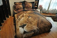 Wholesale Lion Quilt Cover Set - 3D Panthers&Lion Duvet Cover Set 4PC Quilt Cover Bed Sheet Pillowcase FullQueen Very sell like hot cakes style!