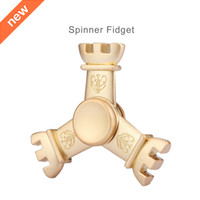 Wholesale King Crowns Wholesale - king crown Diamond captaint america Finger Toys Spiral Fidget Spinner Alloy Metal Hand Spinners EDC Desk Spinning Top Uniquely Shaped