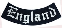 Wholesale Motorcycle Detailing - Outlaw England Rocker Embroidered Iron On Patch Motorcycle Biker Club MC Front Jacket Vest Patch Detailed Embroidery