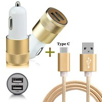 2 porte USB di Smart Car Charger + 3FT Tipo C Cavo USB compatto / LG G6 G5 / Huawei Honor Nova Inoltre 8 P9 P10