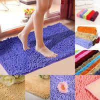 Wholesale shaggy bathroom mats - Wholesale- Absorbent Soft Shaggy Non Slip Bath Mat Bathroom Shower Home Floor Rugs Carpet