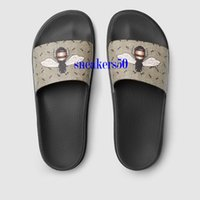 Wholesale Indoor Outdoor Design - 2017 Fashion Designed Brand Outdoor Slippers New Luxury Tiger Printed Men Slide Sandals Comfortable Beach Shoes Euro 38-45