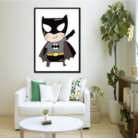 Wholesale Cartoon Pictures For Kids Room - 1 Panel Modern Super Hero Batman Cartoon Canvas Spray Painting Home Decor Wall Art Canvas Pictures for Kids Room Decoration No Frame