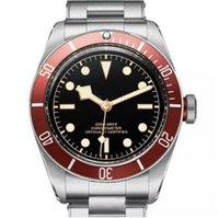 Wholesale Auto Sweep - 2018 Tud Mens Luxury Sports Watch Red Case Stainless Steel Original Strap Black Dial Date Sweep Automatic Mechanical Men watches