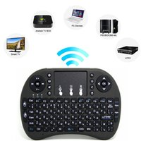Wholesale Chargeable Wireless Mouse - 2017 Rii Mini i8 i8+Keyboard Touch Fly Air Mouse Chargeable Battery USB Cable Portable 2.4G Wireless Keyboard Mouse Combo Touchpad PC