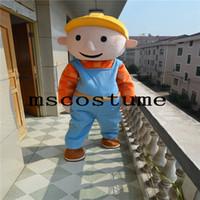 Wholesale Mascot Costume Bob - 2017 new Bob the Builder mascot costume Halloween costume dress fancy dress performance props adult size