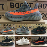 Wholesale S Pirate - (With Original Box)Cheap Boost 350 v2 running shoes Pirate Black BB5350 Mens Running Shoes Women Kanye West 350 s Season