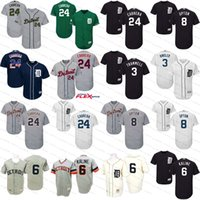 Wholesale Miguel Cabrera Tigers - 2017 Detroit Tigers Jersey Flexbase 24 Miguel Cabrera 3 Ian Kinsler 8 Justin Upton throwback 6 Al Kaline baseball jersey stitched size S-4xl