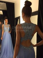 Wholesale Black White Dance Floor - 2017 Real Picture Small Round Neck A Skirt Evening Dresses Red Chiffon Stereo Flower Stickers Back Cross Dance Lavender Dress Bead Gowns