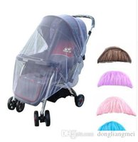 Wholesale Mesh Crib - Baby Stroller Pushchair Mosquito Insect Shield Net Safe Infants Protection Mesh Buggy Cover Stroller Accessories Mosquito Net 150cm wn230