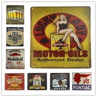 Wholesale Cross Garage - Tin Signs Metal Poster Beer Garage Gas Oil Weathered Service Retro decoration, Home Decor, Pub, Bar, Man Cave 20*30CM 20161005#