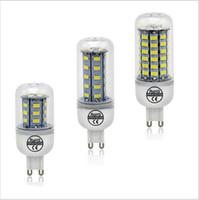 Discount led cree lamp bulb 6w - High Quality G9 LED Lamp 6W 9w 10W 12w 15W 20w 25W AC 220V Ultra Bright 5730SMD LED Corn Bulb light Chandelier