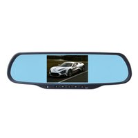 "Wholesale Bluetooth Mirror Gps Touch - 5.0""Touch Dual Cam Car DVR with 1GB RAM 8GB ROM WiFi FM GPS Navigation Bluetooth Car Kits Car Mirror Android Cameras"