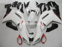 Wholesale kawasaki motorcycle aftermarket parts resale online - Aftermarket body parts fairing kit for Kawasaki Ninja ZX6R white black motorcycle fairings set ZX6R MA09