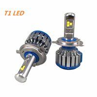 Wholesale H11 H8 Led - T1 Car Headlight H7 H4 LED H8 H11 HB3 9005 HB4 9006 H1 H3 9012 H13 9004 9007 70W 7000lm Auto Bulb Headlamp 6000K Light