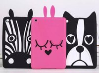 Wholesale Ipad Mini Case Zebra - Dog zebra puppy rabbit 3D Cover Soft Silicone Case mini 4 7.9 for ipad air 3 2 1 pro 9.7 2017