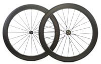 Wholesale 58mm Road Bike - Golf surface carbon wheels 58mm depth 25mm width rims,full carbon fiber Dimple surface 404 carbon wheelset with NOVATEC 291 482