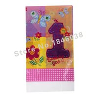 Wholesale Lovely cm disposable Birthday tablecloths st FLowers kids happy birthday party plastic tablecover supplies