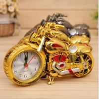 Wholesale Cool Clocks Design - Motorcycle Alarm Clock Shape Creative Retro Gifts Upscale Furnishings Boutique Home Decorator cool unusual alarm clock 4 design KKA2074