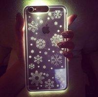 iphone bedeckt licht groihandel-PC-LED-Blitzlicht-Fall Erinnern Sie sich ankommende Anrufabdeckung für iPhone 5 5s 6 6s plus klare transparente Haut