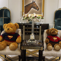 Wholesale Superman Bear Teddy - Genuine Little Cucu Sweater Love Lovers Teddy Bear Lint Toys Tuba Doll Superman The Bear Cartoon