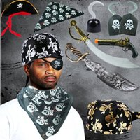 Simulazione creativa Pirate Hook Knife Hat Pirate Equipment Giocattoli per bambini Puntelli Cosplay Halloween Dance Party Supplies
