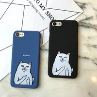 Wholesale Iphone Frosted Cartoon Case - For Iphone 7 Mobile Phone Cases Cute Cartoon Middle Pocket Cheap Cat Frosted Slim Mobile Phone Sets For Iphone 7 6 6s Plus
