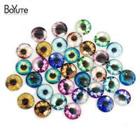 Wholesale Glass Eyes 16mm - BoYuTe 24-35Pcs 16mm Round Glass Cabochon Eye Image Mix Clear Glass Cabochons Diy Jewelry Findigns XL9808