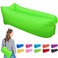 Wholesale US Lounger Fast Inflatable Portable Outdoor or Indoor Wind Bed Lounger Air Bag Sofa Air Sleeping Sofa Couch Lazy Bed for Camping Beach