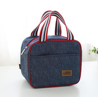 Denim Pranzo Borsa Bambino Bento Box Insulated Pack Drink Picnic Food Cool Ice Cooler Tempo libero Accessori Forniture