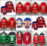 Wholesale hockey hoodies - Men's Old Time Hockey Washington Capitals 8 Alexander Ovechkin 19 nicklas backstrom 77 T.J. Oshie Hoodie