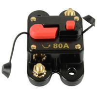 bootshandbücher großhandel-ZOOKOTO 12V-24V DC-Leistungsschalter Trolling Motor Auto Auto Marine Boat Bike Stereo Audio Inline-Wechselrichter mit manueller Rückstellung 80A