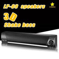 Wholesale Tv Card For Mobile Phone - LP-09 Bluetooth Speaker TV Sound Bar 4.0 Channel Bluetooth Speaker USB Stereo Speaker 3.5mm Aux TF Card For TV PC