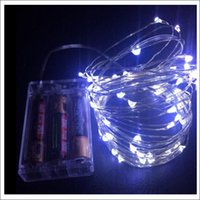 Wholesale decoration for batteries for sale - Group buy via DHL LED DIY copper wire fairy string M leds color for chosing Xmas gift decoration lamp