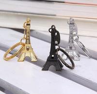bronze schlüsselanhänger großhandel-Schlüsselanhänger Charms Vintage Eiffelturm Schlüsselanhänger Mode Schlüsselanhänger Auto Schlüsselanhänger Geschenke Zakka Fashion Wholesales Gold Sliver Bronze