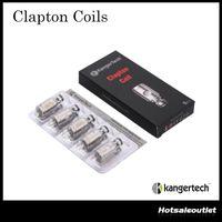 ingrosso bobina di clapton sottile kanger-Autentico Kanger Clapton Bobine 0.5ohm Sostituzione Clapton Bobina Testa per Nebox Subvod Subtank Mini Subtank Nano