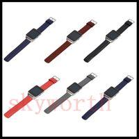 ingrosso tracker gear-Vera cinturino in vera pelle per Samsung Galaxy Gear S3 Gear2 R381 R380 classica cinturino in ricambio per cinturino (No Tracker)