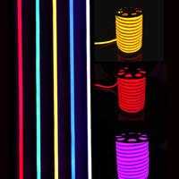 lumières menées extérieures de disco achat en gros de-Nouvelle arrivée LED enseigne au néon LED Flex corde légère PVC LED bandes intérieur / extérieur Flex Tube Disco Bar Pub fête de Noël Décoration