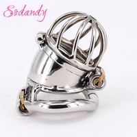 Wholesale Toys Cover Penis - SODANDY 2018 Male Chastity Devices Cock Cage Stainless Steel Locking Cock Ring With Active Penis Cover Stealth Locks Sex Toys For Men