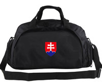 spectator sports - Slovakia duffel bag Fans spectator tote Team emblem logo backpack Football luggage Sport shoulder case Outdoor sling handbag
