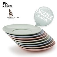 Wholesale 4pcs set Wheat Straw Multi Plate Dish Set Dinner Snacks Plate Round Fruit Tray Dishes Kit Tableware