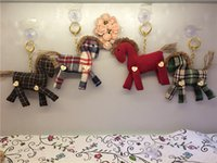 Wholesale Baby Pony Doll - Wholesale- New Creative Pony Cloth Doll Toy Keychain Baby & Kids Animal Plush Toy Fabric Home&Office Decoration Ornaments Creative Gift