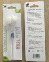 Wholesale toothbrush dual for sale - Group buy NEW arrival Denture Brush False tooth brush denture toothbrush soft bristles Dual brush heads antibacterial toothbrush