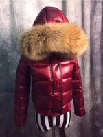 Wholesale Raccoon Clothing - M18 women winter down coat thickening Female Clothes 100% real raccoon fur collar hood M down jacket