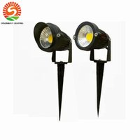 Wholesale Outdoor Decorating - 5W 7W COB LED Garden Lawn light lamps LED ground lamps With Base Holder Outdoor flood light Decorate Waterproof Free shipping