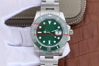 Wholesale buckle suppliers - Factory Supplier Luxury AAA Brand Wristwatches Sapphire 40mm 116610LV HULK CERAMIC GREEN DIAL BEZEL Automatic Mechanical Mens Watch Watches