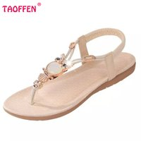 босоножки оптовых-Wholesale-bohemian beaded women flat sandals clip toe  quality sexy sandals fashion ladies shoes size 36-42 WA0062